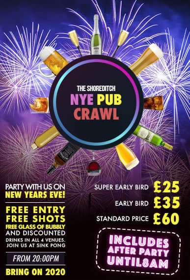 New Years Eve Pub Crawl Poster